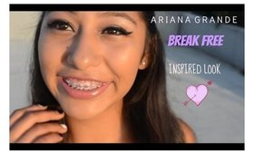 """Ariana Grande """"Break Free"""" Inspired Hair, Makeup and Outfit !"""