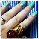 Minty-green nail polish!