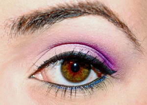 The Little Mermaid inspired eye look