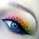 Colourful Leopard Print Makeup