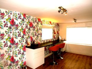 This photo is of my salon which is located in old swan,liverpool. It is a small place were I work from.