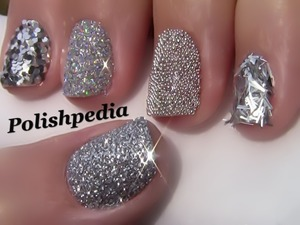 This design was so much fun to wear.  My nails sparkled like diamonds!