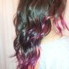 Curly Purple Dip-Dye