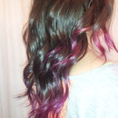 Curly Purple Dip-Dye