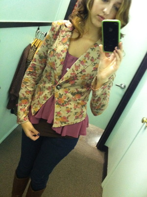 A fun flowered vest transitions well into fall.