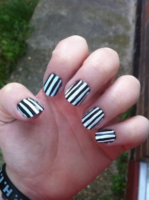 I'm rather happy with my first attempt at doing this style of nail art!
