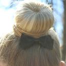 Sock bun with bow!