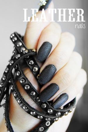 Nails inc Black Leather & Skulls Nails!  www.kakabeautyblog.com