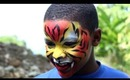 FACEPAINTING : Having some fun with the boys. Tiger and Snake