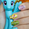Rainbow Dash inspired manicure