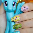 Rainbow Dash inspired manicure