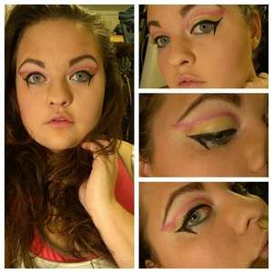 This is what happened when I mixed free time with my new Maybelline Master Duo Liner  review here http://mushynanners620.blogspot.com/2013/01/maybelline-eyestudio-master-duo-thin-or.html