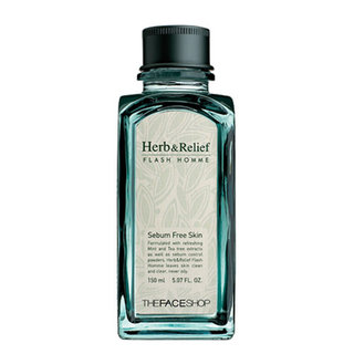 The Face Shop Herb And Relief Flash Homme Sebum - Free Toner