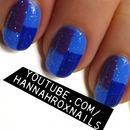Glitter Colorblock Nails
