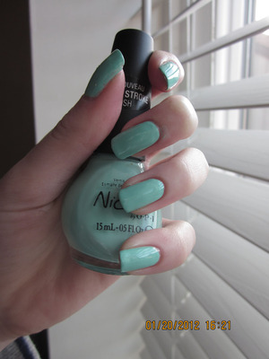 Nicole by OPI- My Lifesaver Before stamping!