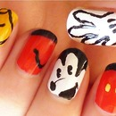 classic Mickey Mouse nails
