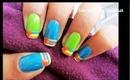 Easy Stripes nail design.