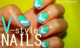 How to V Nail Design