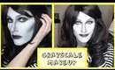 Grayscale Drag Queen Makeup Transformation