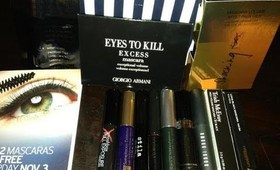 High End Mascara Sampler Haul and new channels