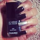 Black glam mani :)
