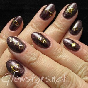 Read the blog post at http://glowstars.net/lacquer-obsession/2015/05/gold-embellishments-on-gelish-whose-cider-are-you-on/
