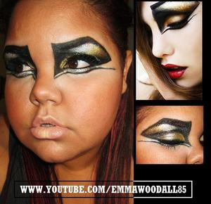 Egyptian lover / New Years Dramatic Makeup from an Inspired Photo (on the right) by a Tumblr Post.