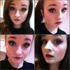 Dramatic eyes and dark lips