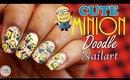 """Cute & Easy """"Minions"""" Nail Art Tutorial"""