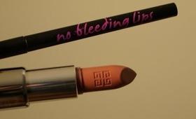 No Bleeding Lips & Givenchy Le Rouge Couleur Intense Rose D'exception