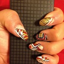 Tribal Nude Nails