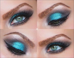 Please visit my blog for complete product list and tutorial:  http://mariabergmark.wordpress.com/