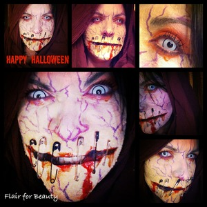 """one of the looks I've created for last Halloween. It's not rosacea! ;-) More looks on my facebook page, where the """"LIKE"""" button awaits to be hit!  ;-) http://www.facebook.com/pages/Flair-for-Beauty/217232211715190"""