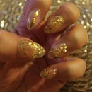 Clear Acrylic with Gold Gold Foil