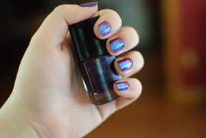 ELF Party Purple and MAC Relfects Transparent Teal Glitter