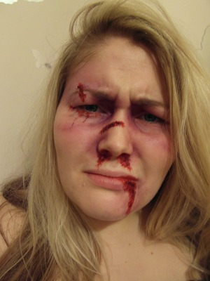 Fake blood and face paint