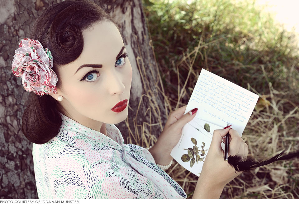 Sorry, that vintage pin up makeup and hair