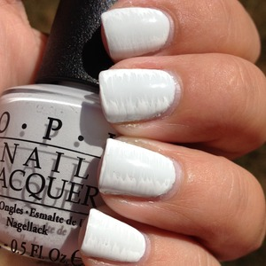 OPI My Boyfriend Scales Walls and a white striper. :)  Http://polishmeplease.wordpress.com