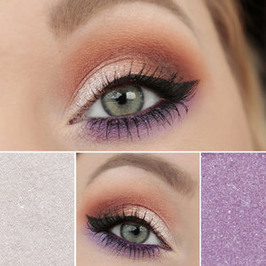 Max Factor Wild Shadow Pots - 65 Defiant White and15 Vicious Purple  Mac eyeshadow Rule  - Makeupgeek eyeshadows Morocco, Bada Bing, Beaches and Cream  - Zoeva eyeliner pencil Regency  - Lumene Truly Bold and Curly Mascara