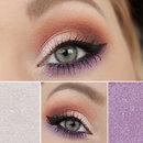 White, purple and orange