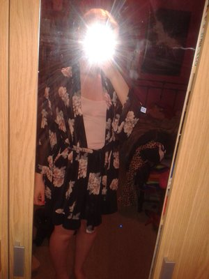 Kimono from h&m and skirt from Topshop