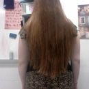 Tailbone hair length, present