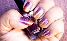 Easy Halloween & Fall Gradient Nails using Zoya, China Glaze & elf | Honey Kahoohanohano