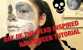Day of the Dead Inspired Halloween Tutorial+Collab+Giveaway