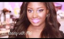 Get Ready with Me | Fun, Colorful Makeup + Loose Wand Curls!
