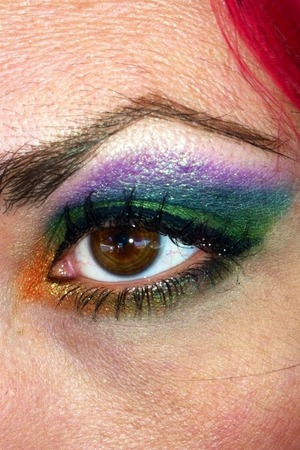 I used the new Lime Crime Alchemy Palette.