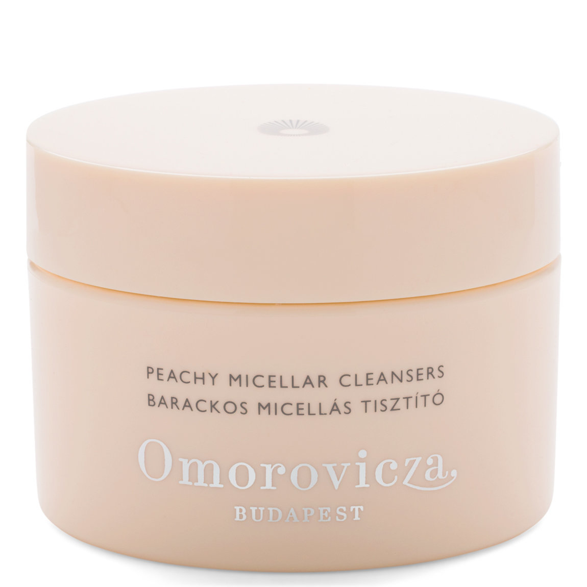 Omorovicza Peachy Micellar Cleansers product swatch.