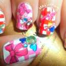 Retro Pretty Bow Nails