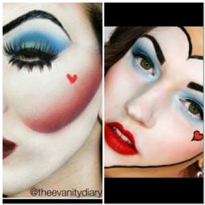 Queen Of Hearts Make Up Look