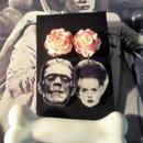 Horror earrings and hair clip